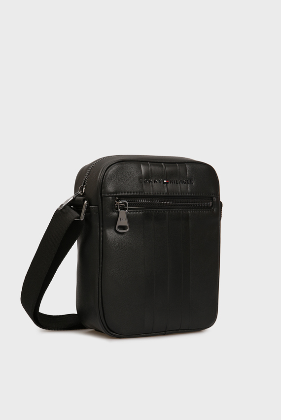 Мужская черная сумка через плечо TH METRO MINI REPORTER