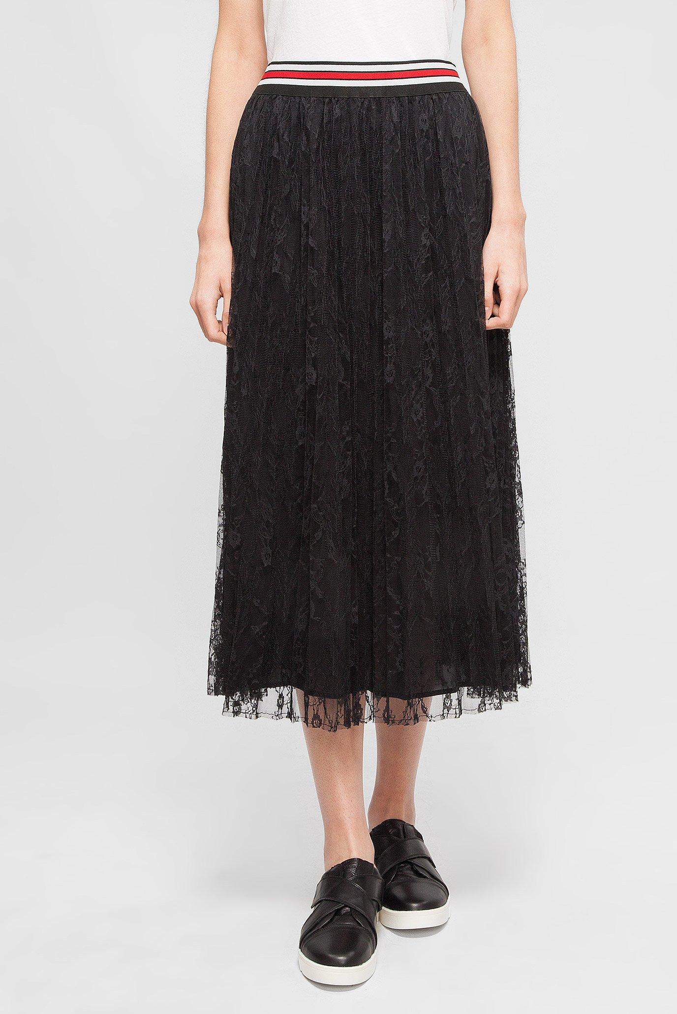 cb1ffddb5ec9 Купить Женская черная плиссированная юбка Replay Replay W9233B.000.82894 –  Киев, Украина. Цены в интернет магазине MD Fashion