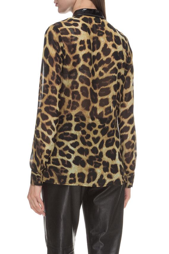 Женская леопардовая блуза