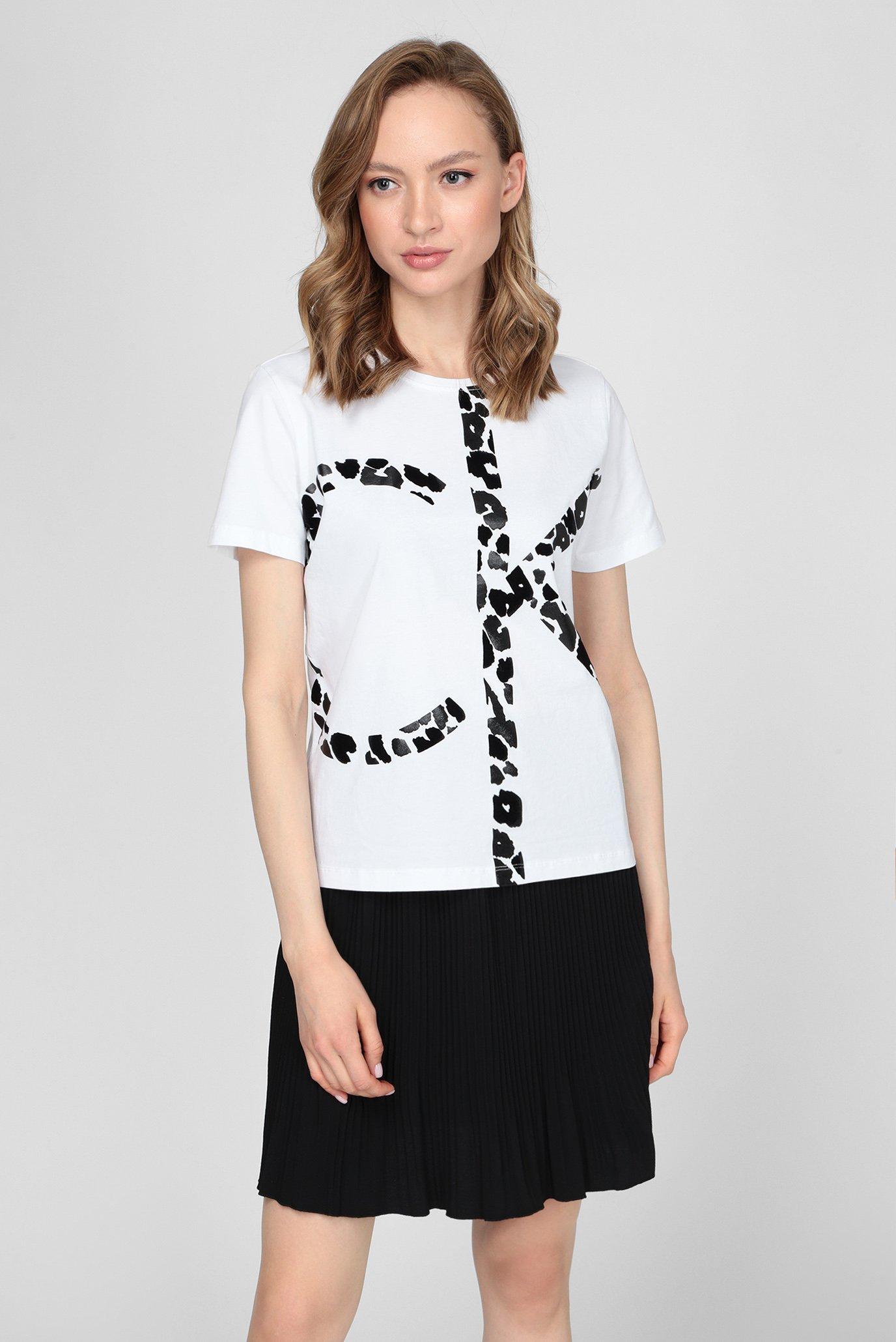 Женская белая футболка REGULAR FIT SS CK PRINT TEE 1
