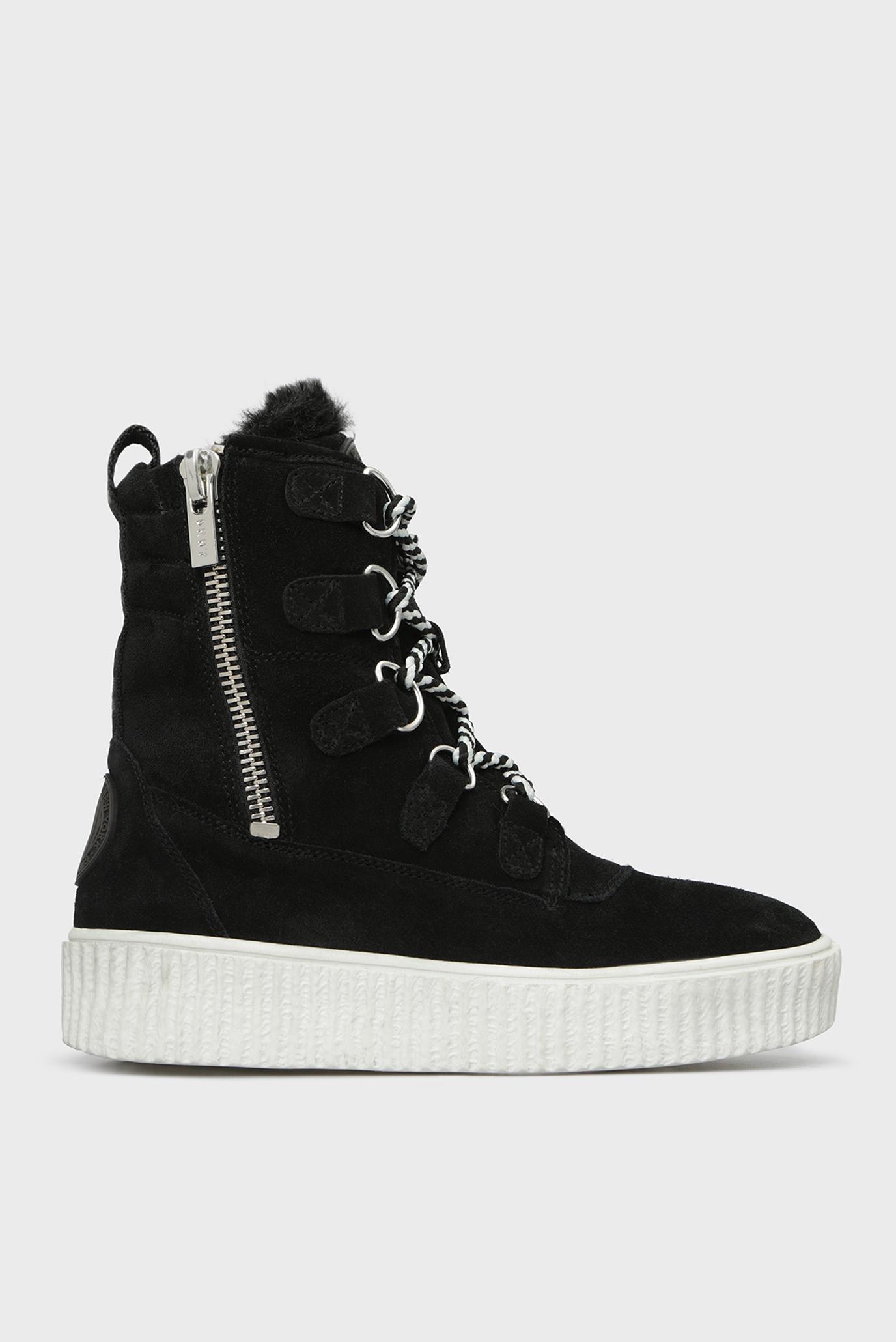 Купить Женские черные замшевые ботинки MONTREAL DKNY DKNY K3820995 – Киев, Украина. Цены в интернет магазине MD Fashion
