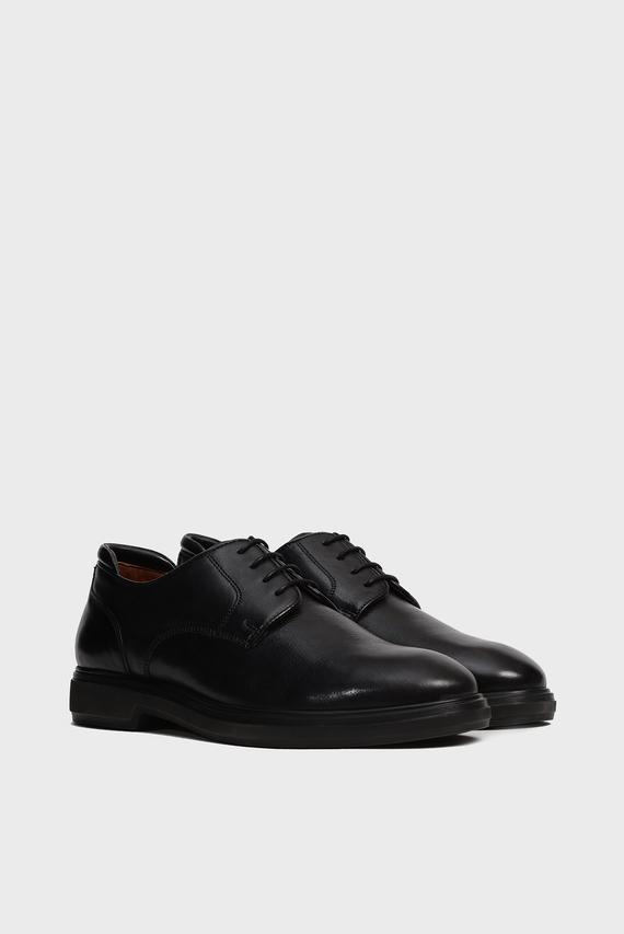 Мужские черные кожаные дерби Bowery