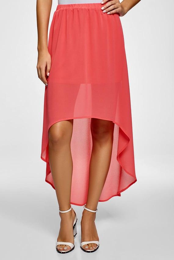 Женская коралловая юбка
