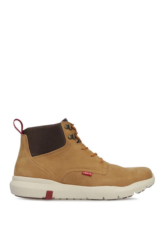 Мужские бежевые кожаные ботинки