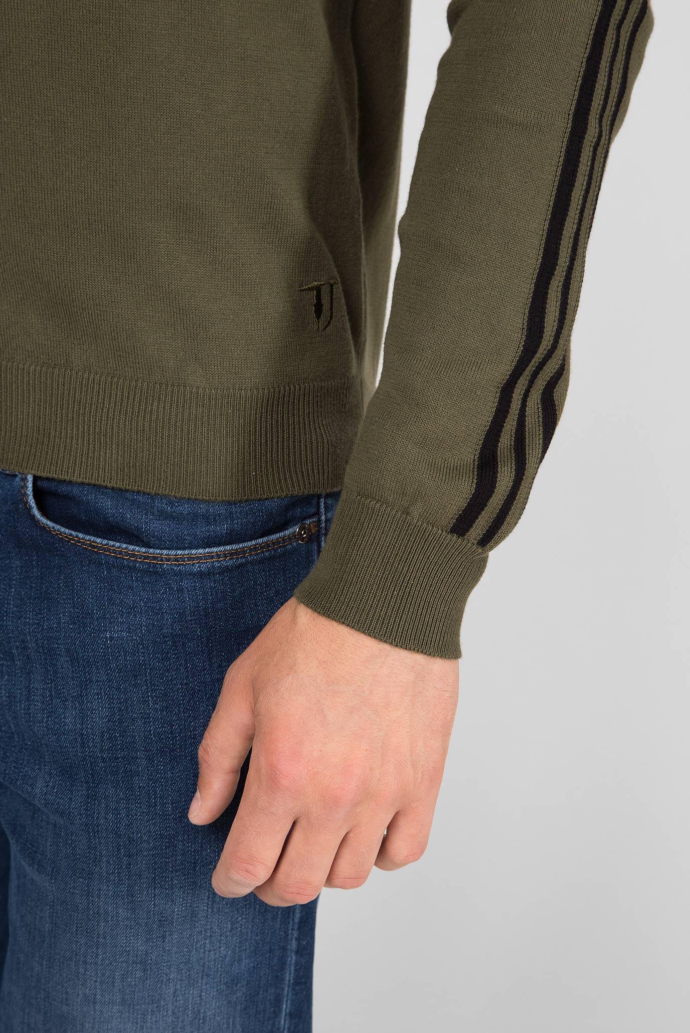 Мужской зеленый джемпер SLIM FIT Trussardi Jeans