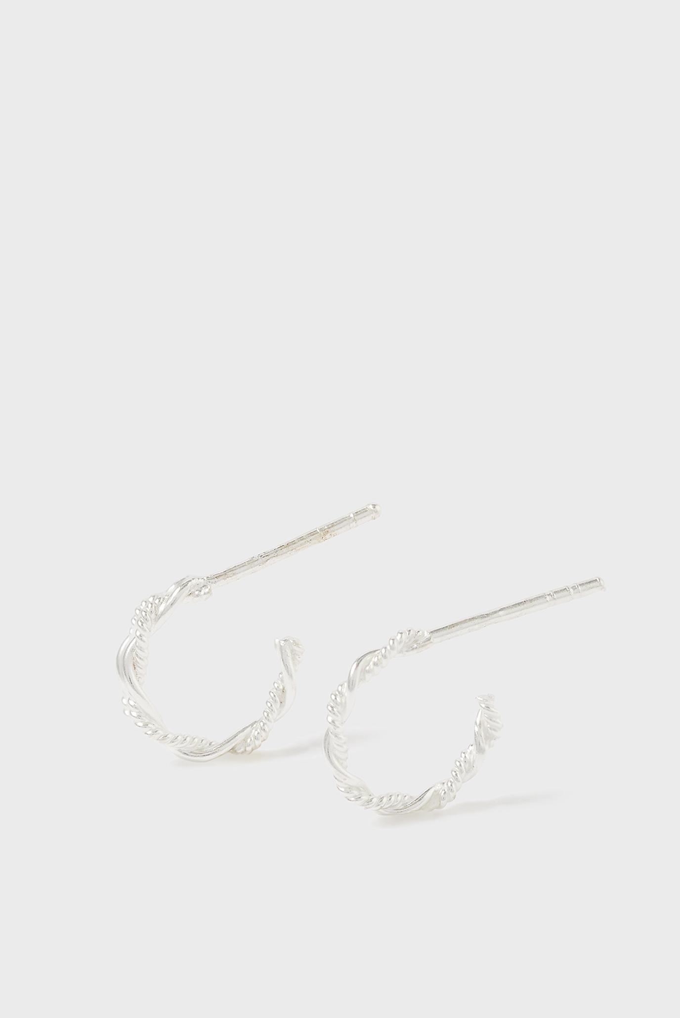 Женские серебряные серьги STTWISTEDROPEHOOP 1