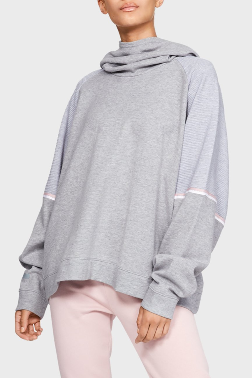 Женское серое худи UNSTOPPABLE DOUBLE KNIT OS HOODIE