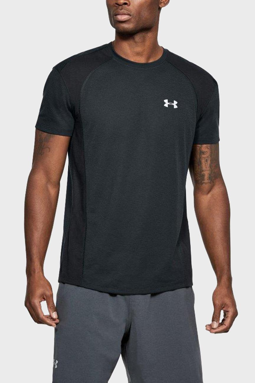 Мужская черная футболка STREAKER MESH
