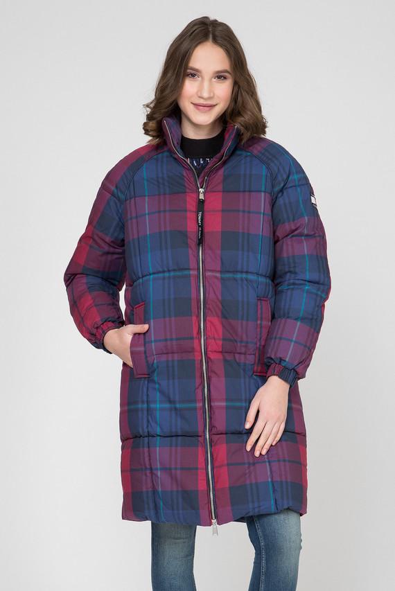 Женская удлиненная куртка в клетку TJW CHECK PUFFA COAT