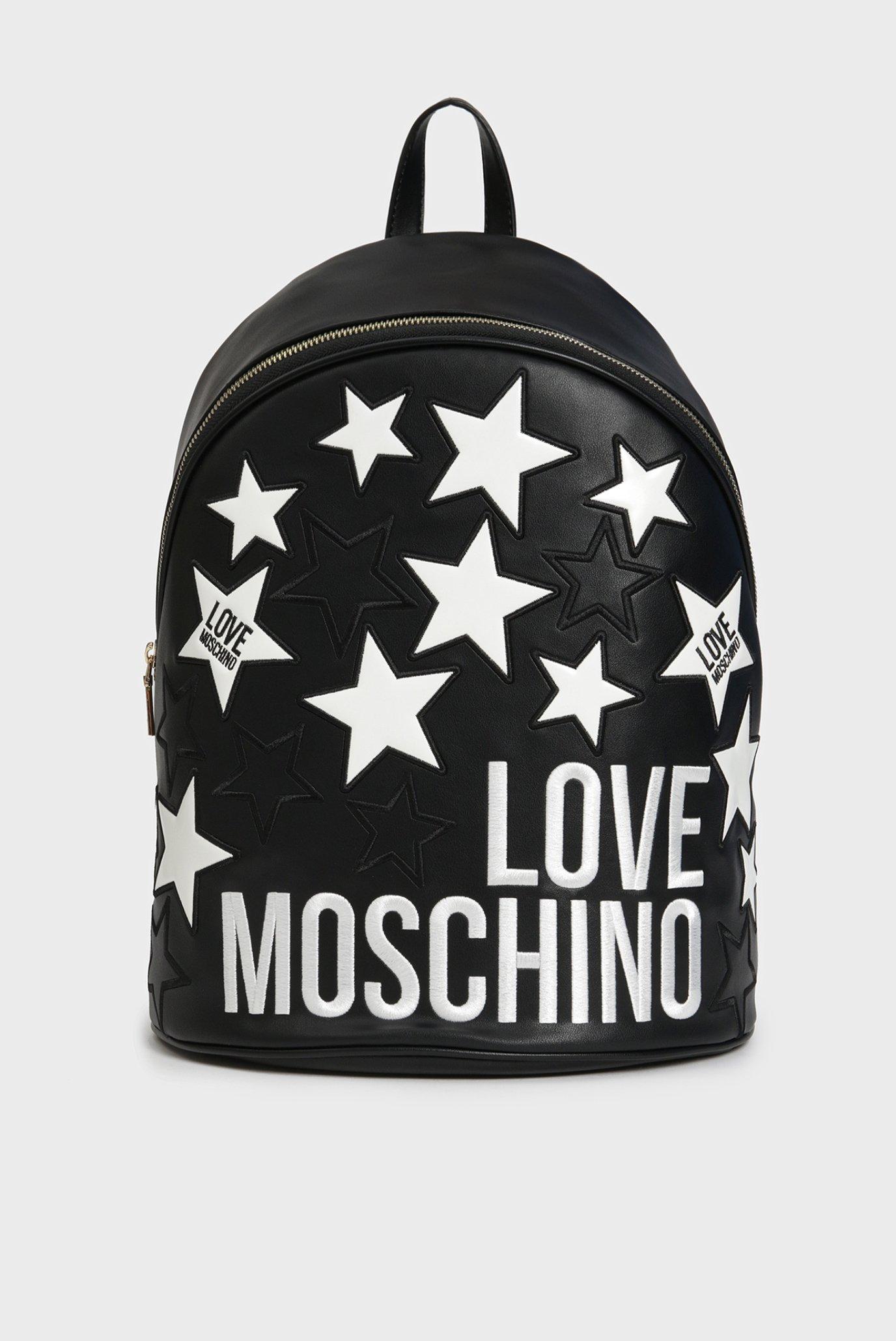 Женский черный рюкзак Love Moschino