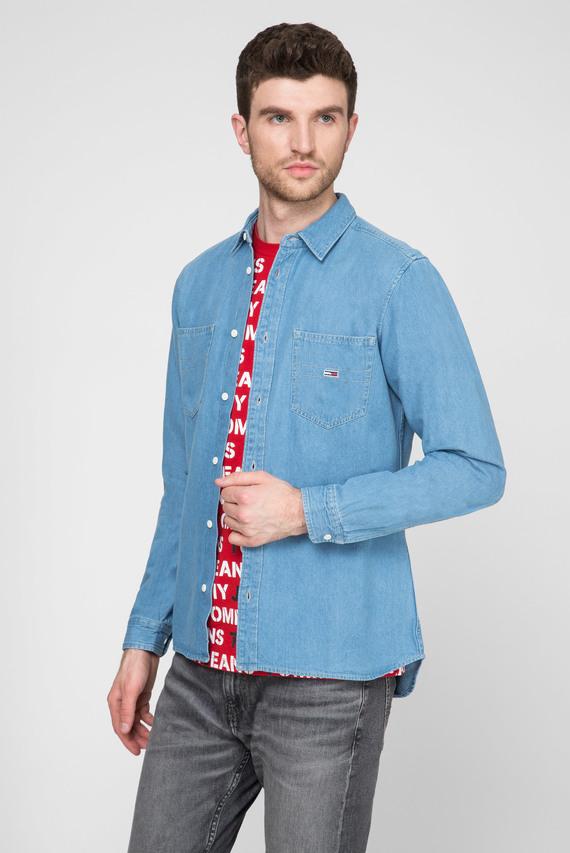 Мужская голубая джинсовая рубашка TJM TWILL POCKET