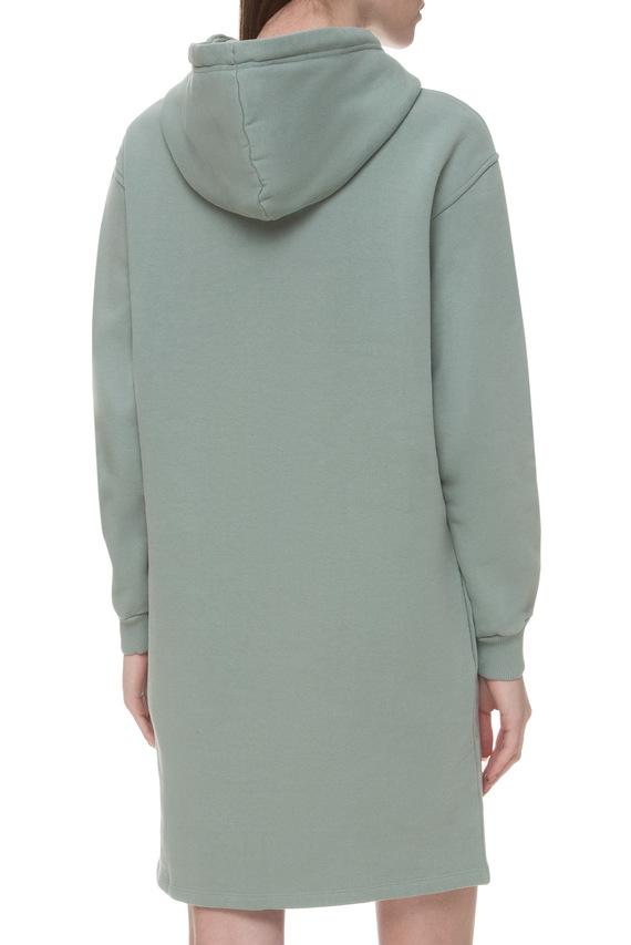 Женское мятное платье-худи
