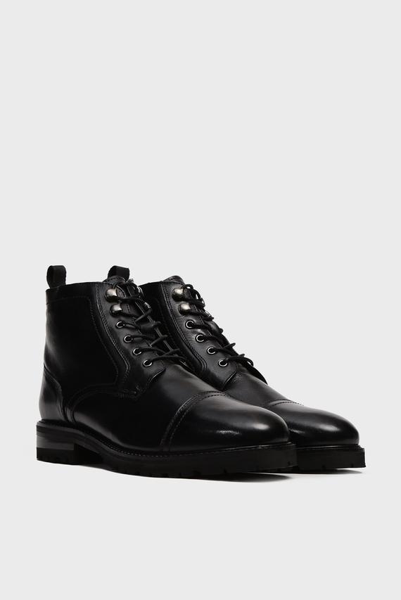Мужские черные кожаные ботинки Varick