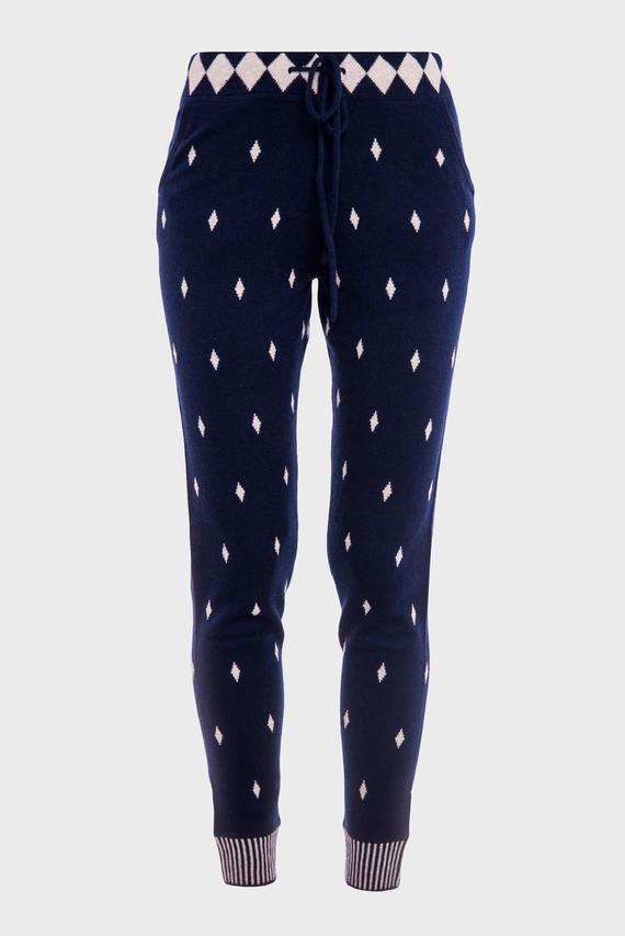 Женские синие брюки TROUSERS MOUCHES-POIS