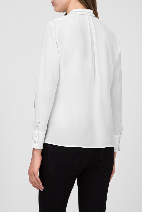 Женская белая шелковая блуза