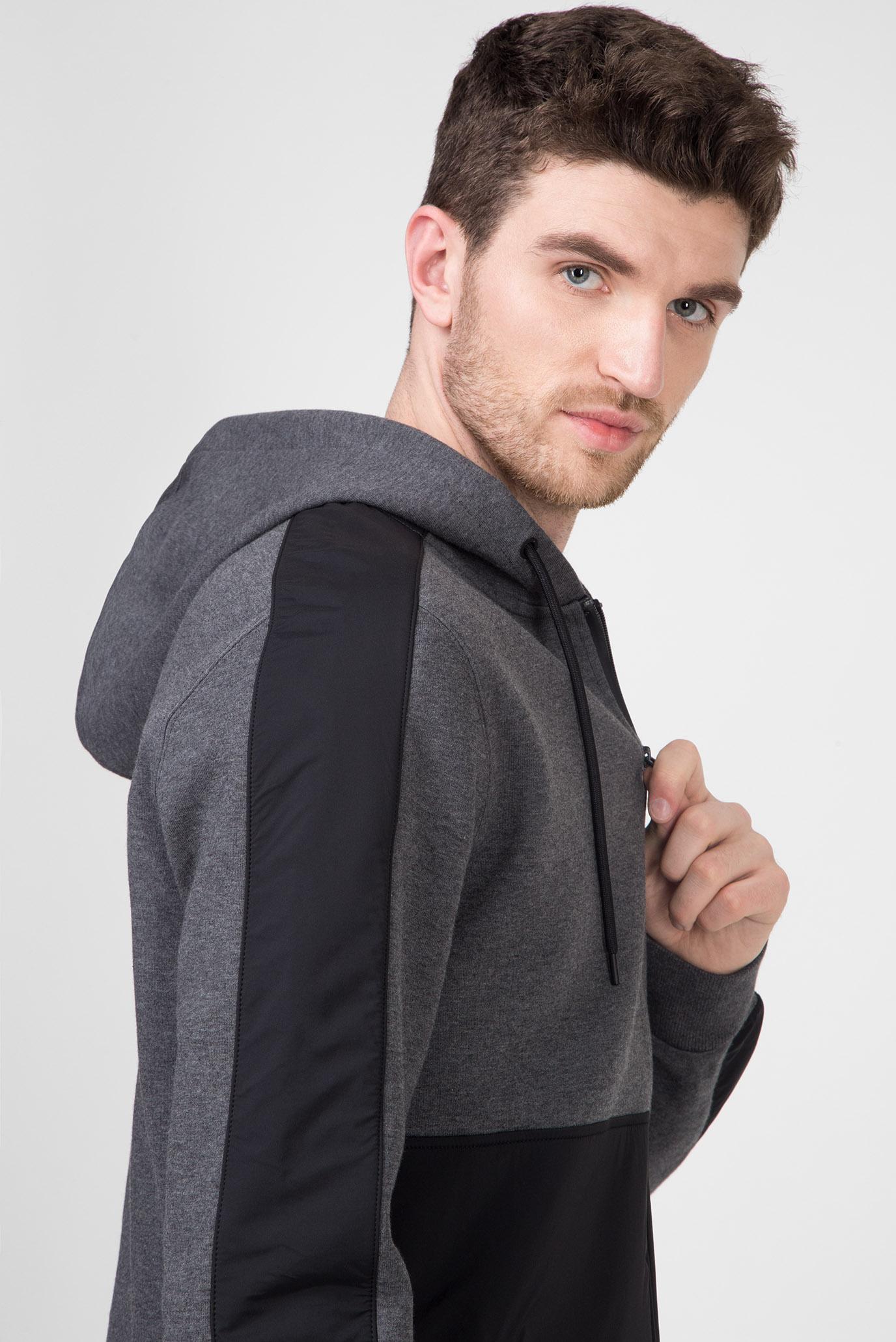 Мужское темно-серое худи MIX MEDIA Calvin Klein
