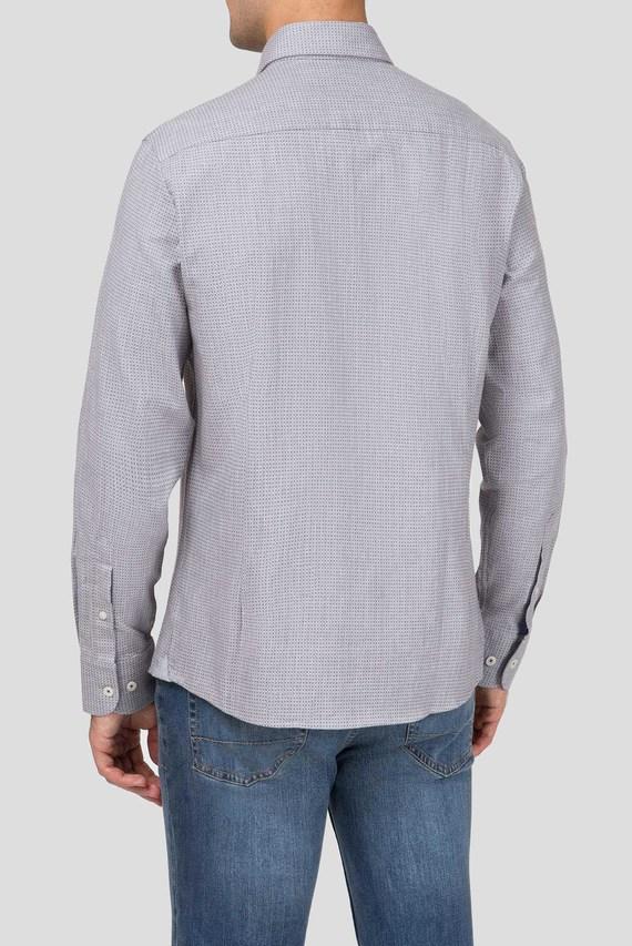 Мужская серая рубашка с принтом