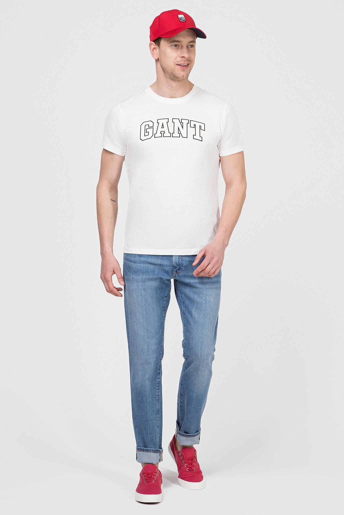 Купить Мужская белая футболка GRAPHIC Gant Gant 2003034 – Киев, Украина. Цены в интернет магазине MD Fashion