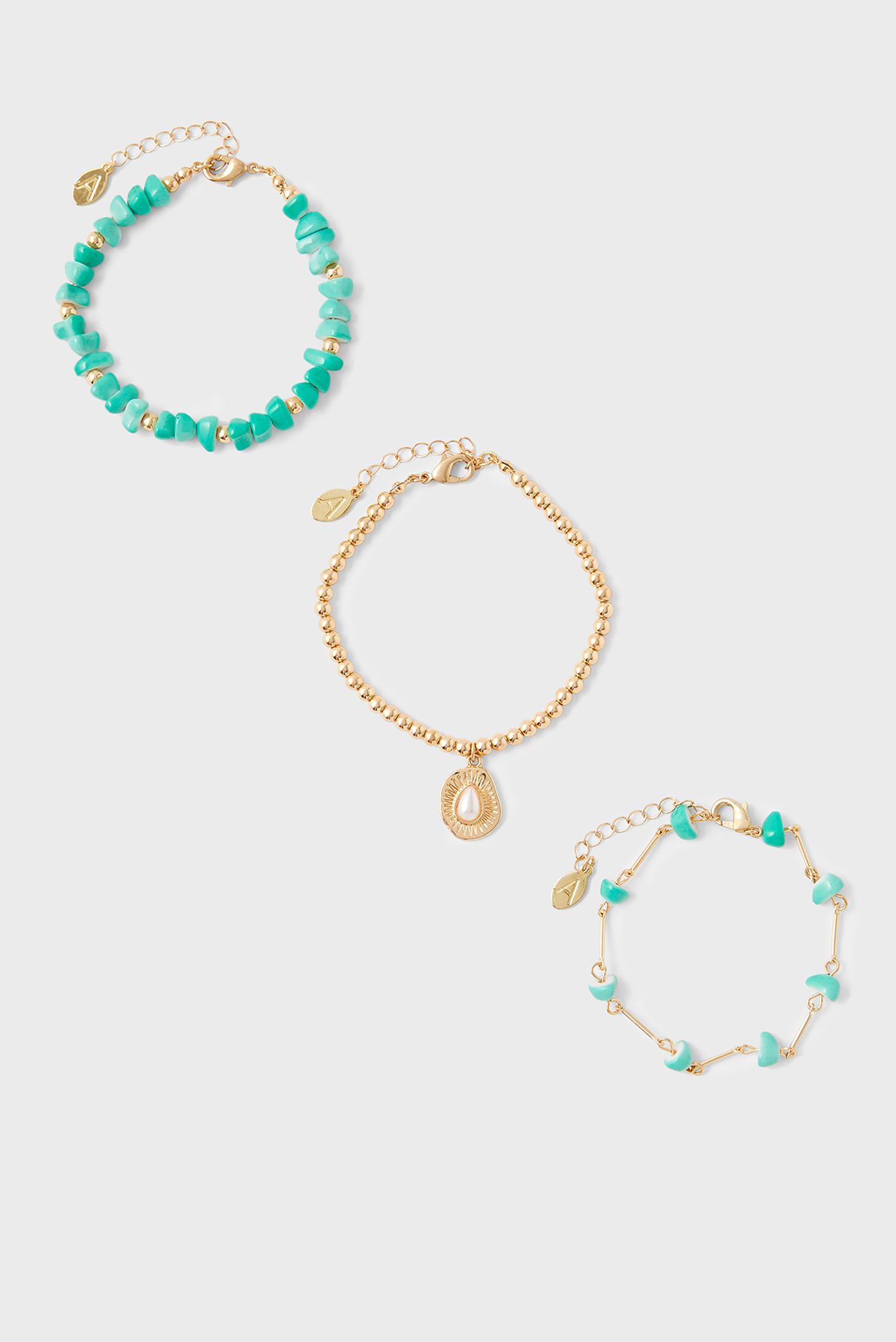 Женский зеленый браслет (3 шт) 1