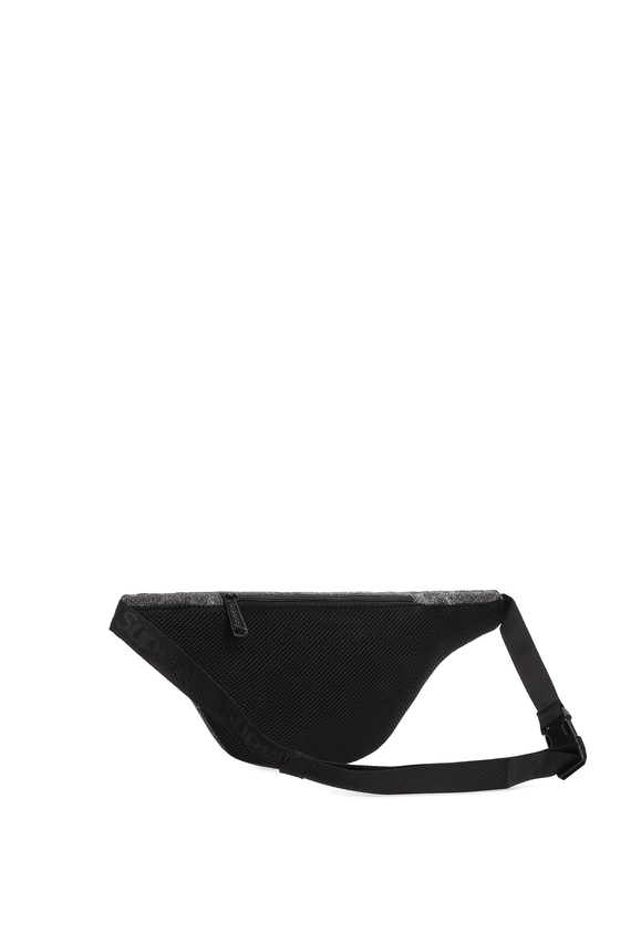 Женская серая поясная сумка