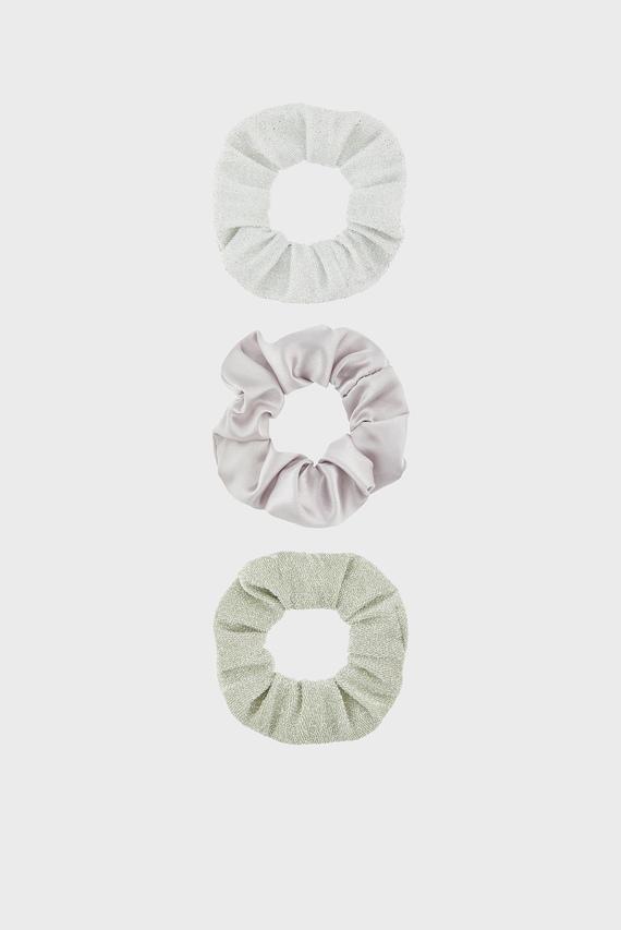 Детский набор резинок для волос SILVER GLITTER (3 шт)