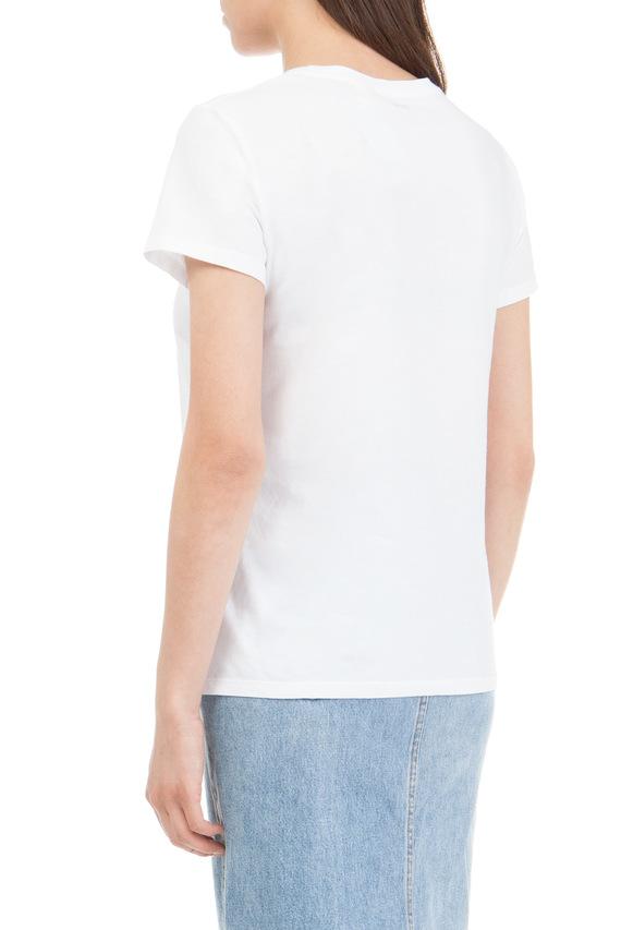 Женская белая футболка Classic fit