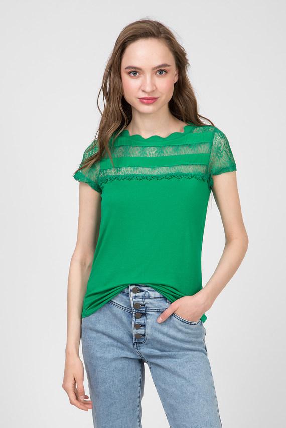Женский зеленый топ
