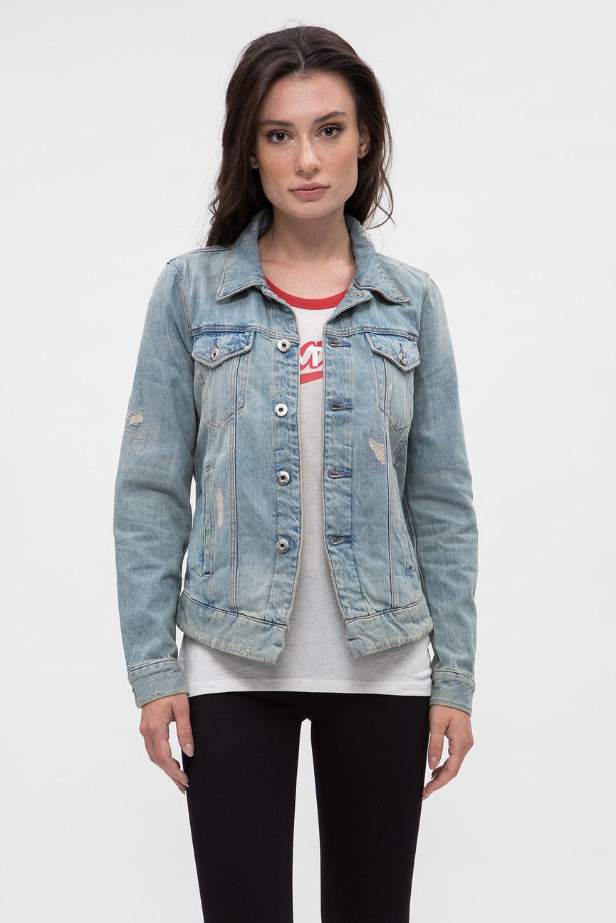 Женская голубая джинсовая куртка 3301 jacket