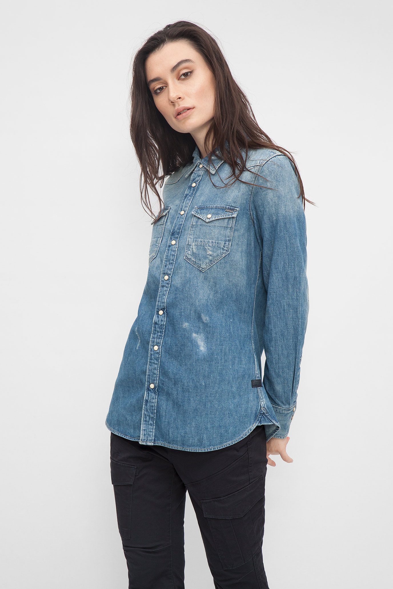 abfadbb35314876 Купить Женская голубая джинсовая рубашка G-Star RAW G-Star RAW D04035,8627  – Киев, Украина. Цены ...