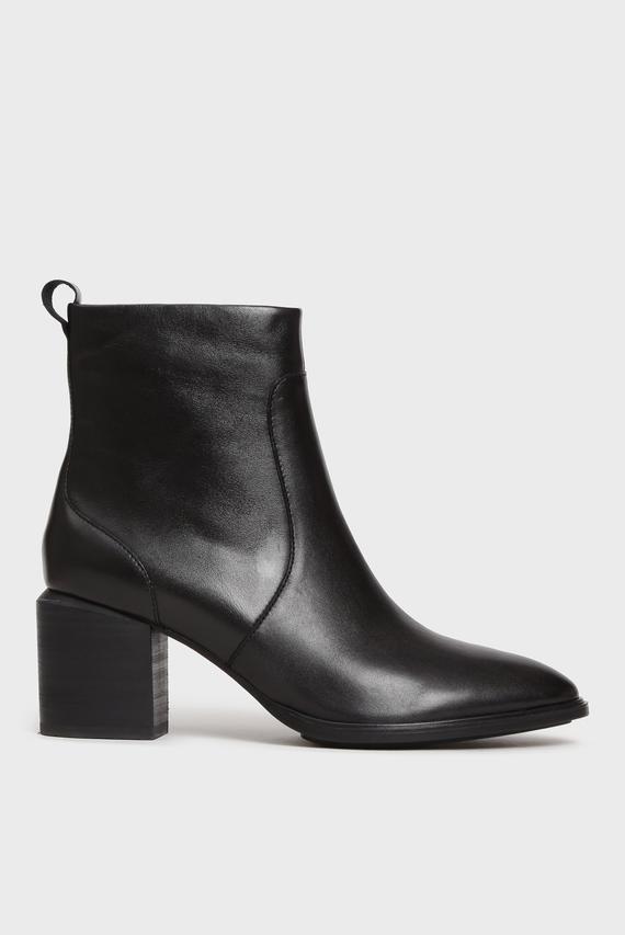 Женские черные кожаные ботильоны Madera