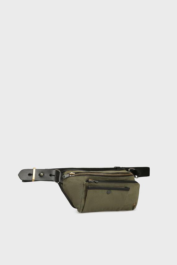Мужская зеленая поясная сумка Stalt dast