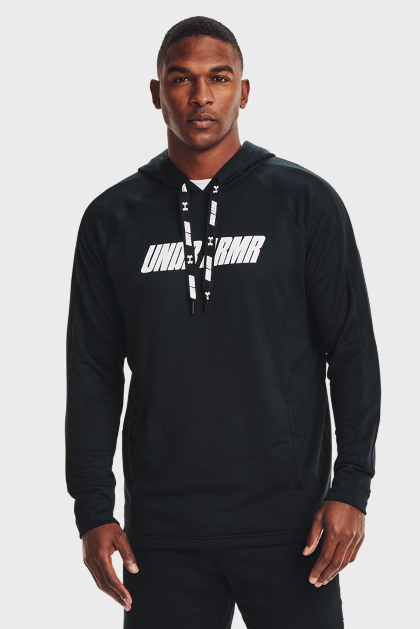 Чоловіче чорне худі UA BASELINE P / O HOODY 1