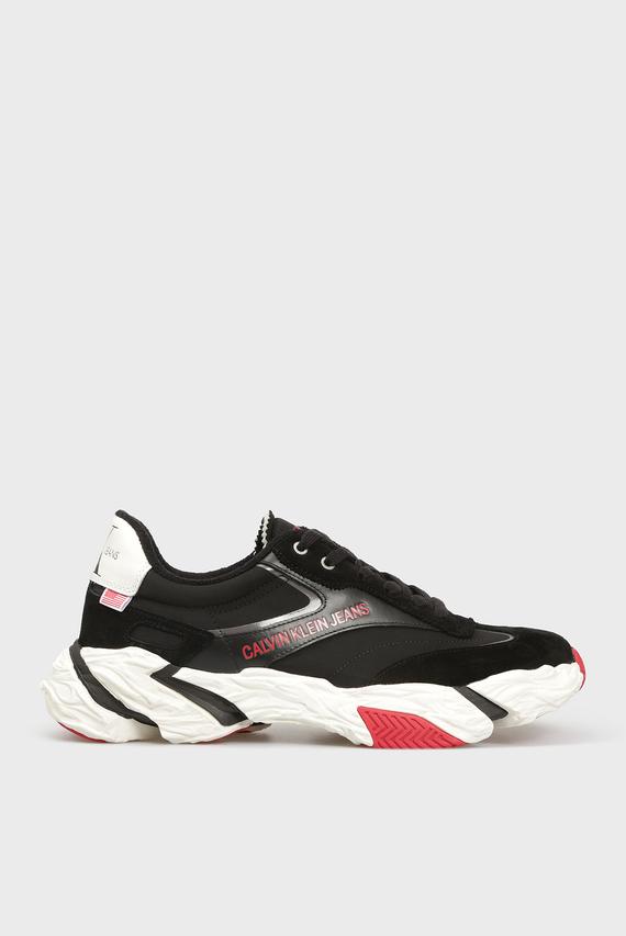 Мужские черные замшевые кроссовки SOLARIS