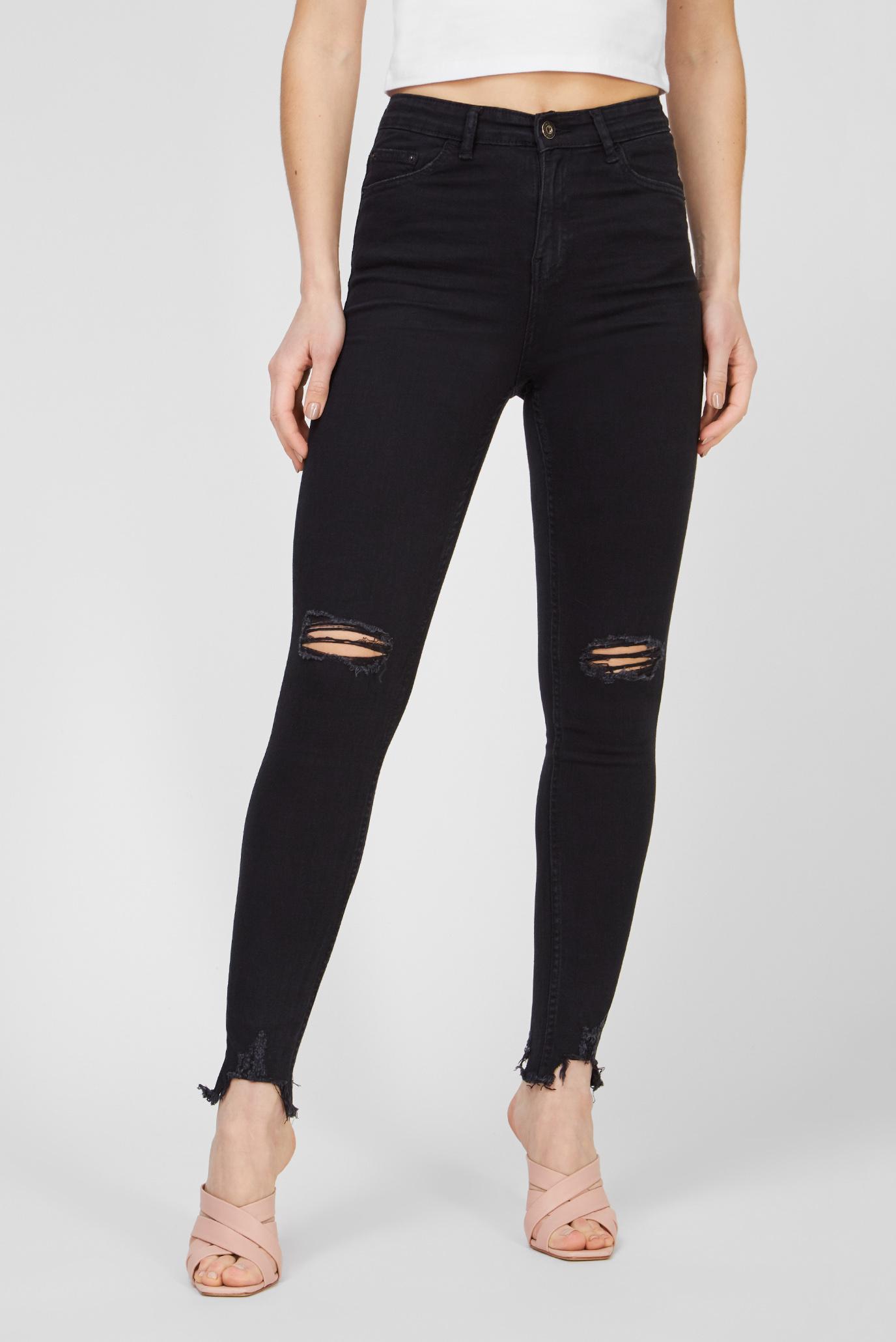 Женские черные джинсы 1