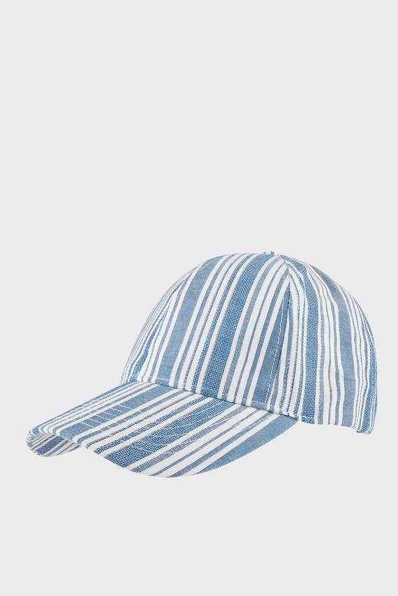 Женская голубая кепка STRIPE BASEBALL CAP