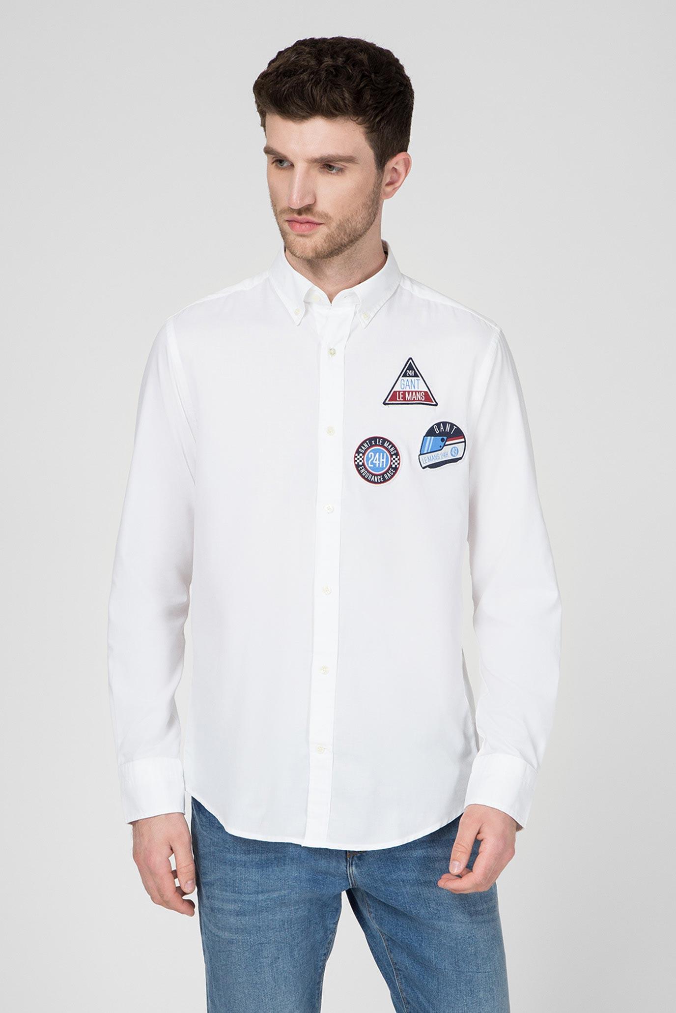Мужская белая рубашка LE MANS Tech Prep Oxford 1