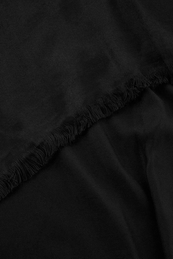 Женский черный шарф PLAIN WOVEN