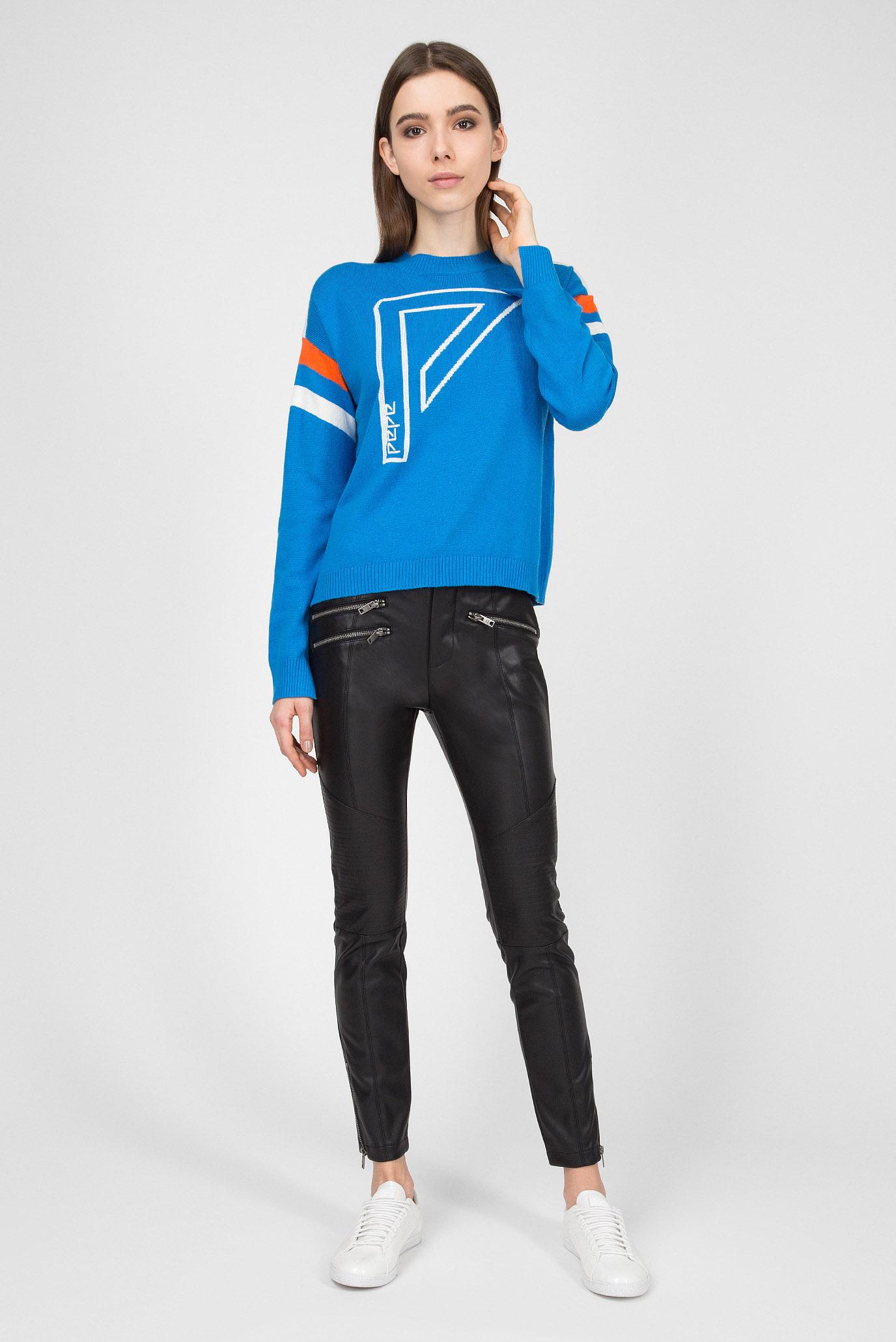 Купить Женский голубой джемпер ADA Pepe Jeans Pepe Jeans PL701356 – Киев, Украина. Цены в интернет магазине MD Fashion