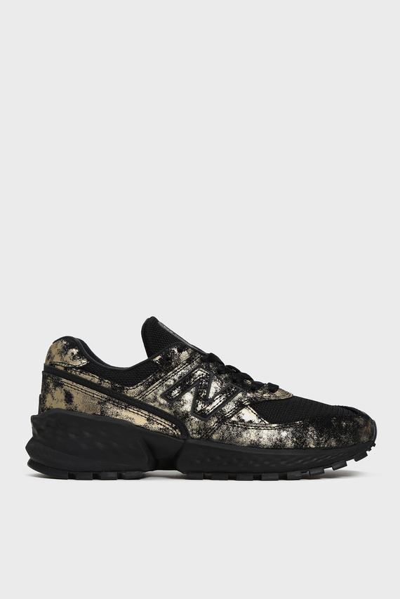 Женские черные замшевые кроссовки 574