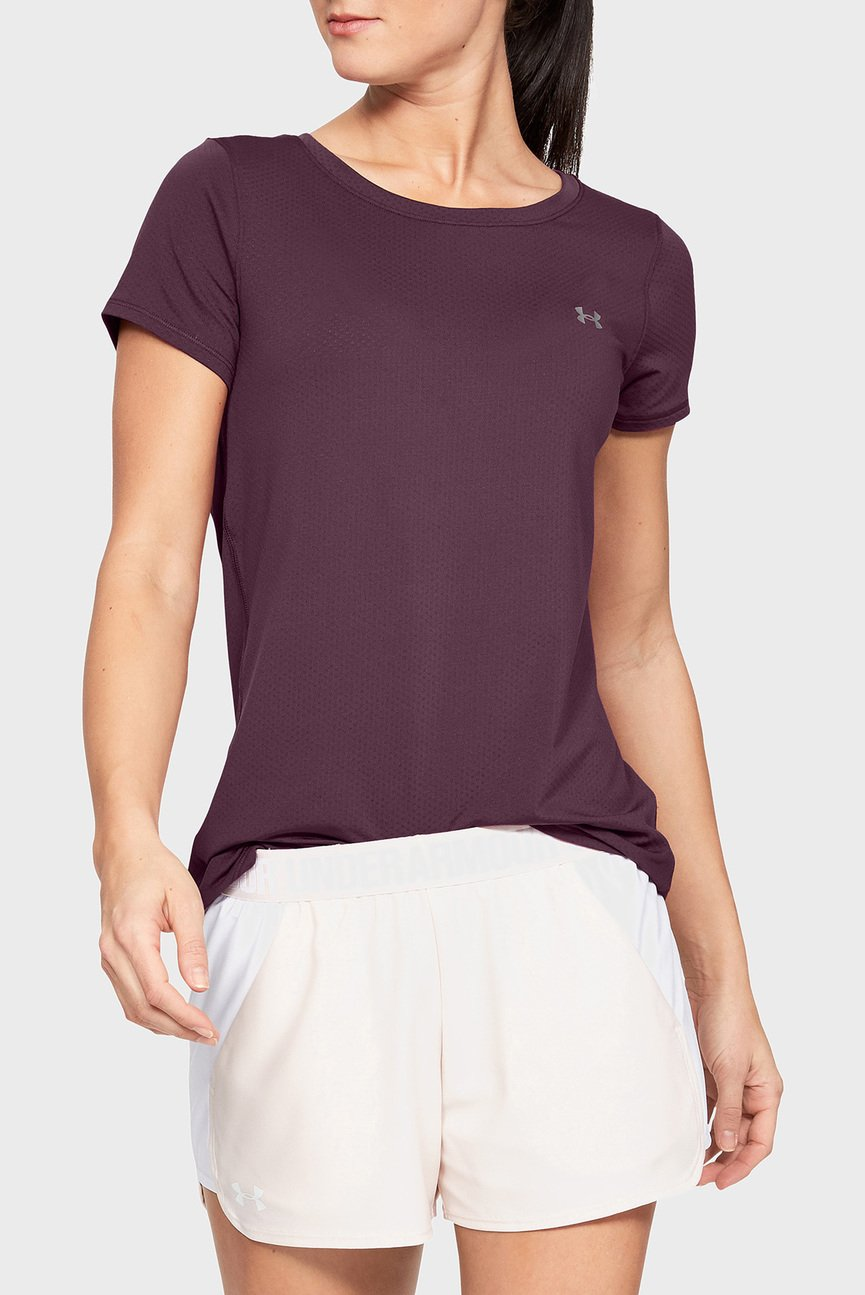 Женская фиолетовая футболка UA HG Armour SS-PPL