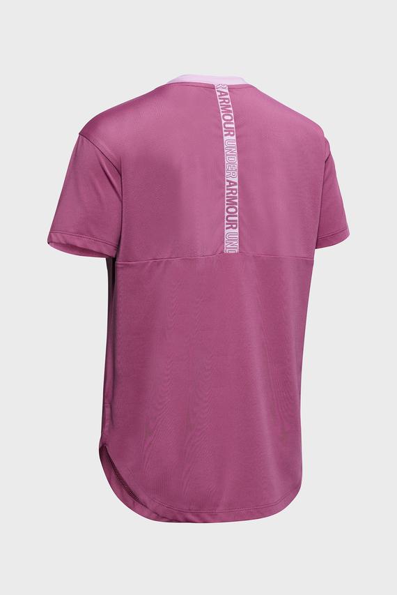 Детская малиновая футболка Armour HG SS