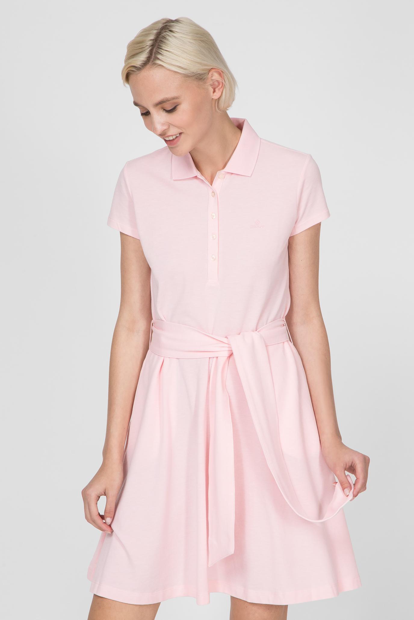 d9e7378e2c82 Купить Женское розовое платье-поло OXFORD PIQUE Gant Gant 4202306 ...
