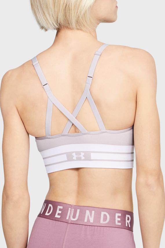 Женское розовое спортивное бра Seamless Longline