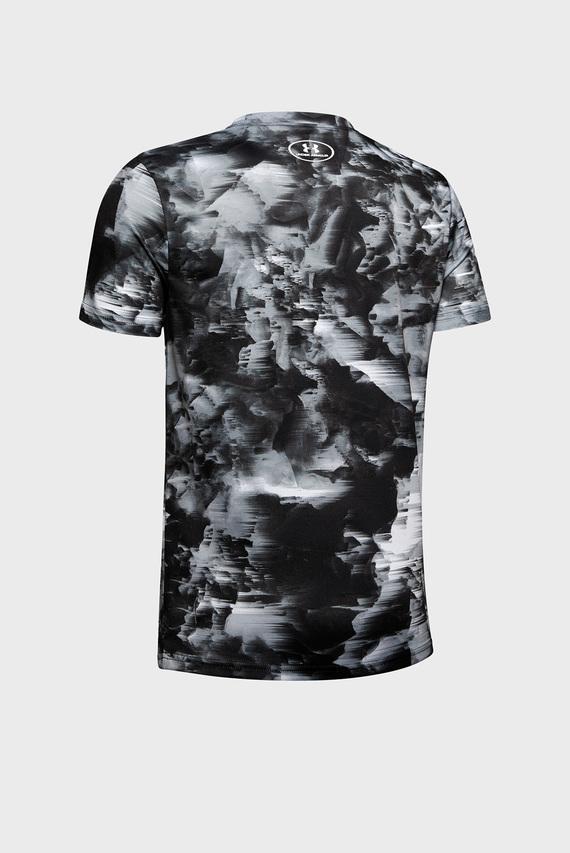Детская серая футболка с принтом Printed Big Logo Tee