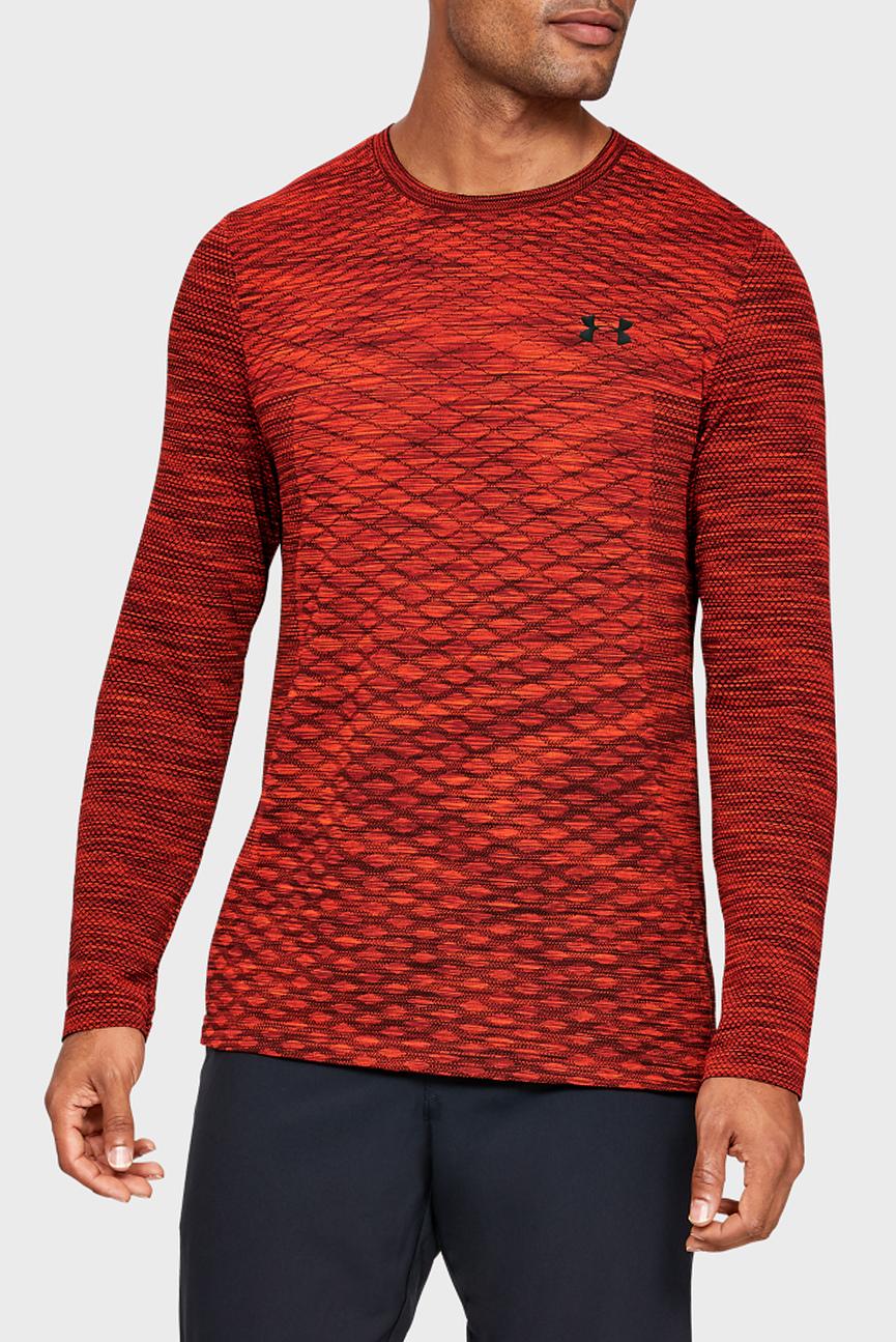 Мужской красный лонгслив UA Vanish Seamless Long Sleeve Shirt