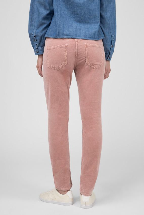 Женские розовые вельветовые брюки