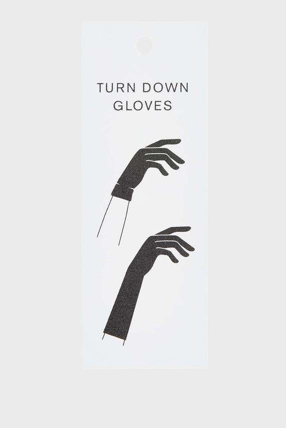 Женские черные перчатки LONG TURNDOWN CUFF W
