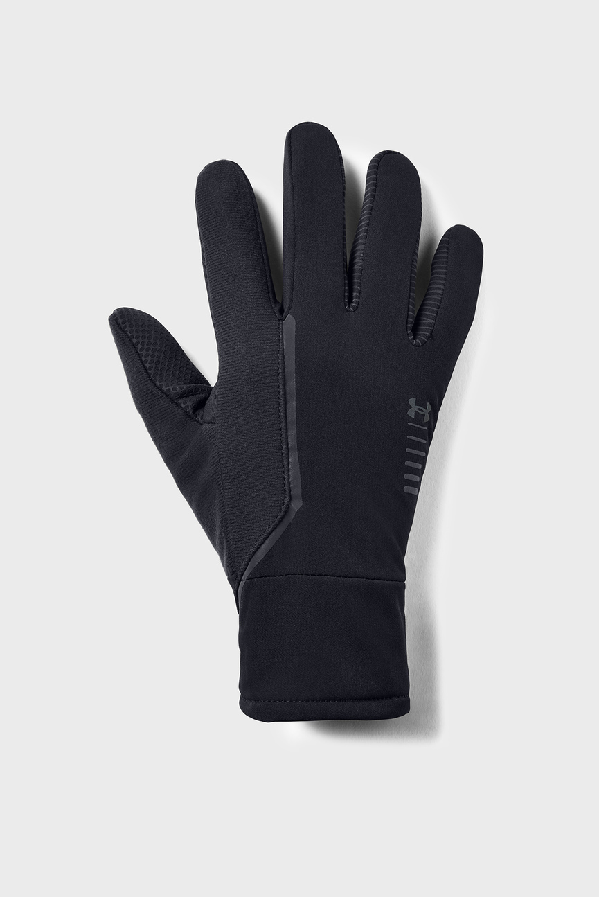 Мужские черные перчатки Men's Storm Run Glove