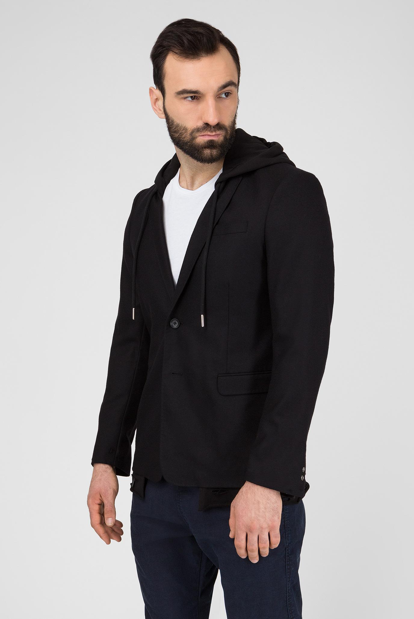 Купить Мужской черный шерстяной пиджак J-TROUBLE GIACCA Diesel Diesel 00SKCZ 0CAUA – Киев, Украина. Цены в интернет магазине MD Fashion