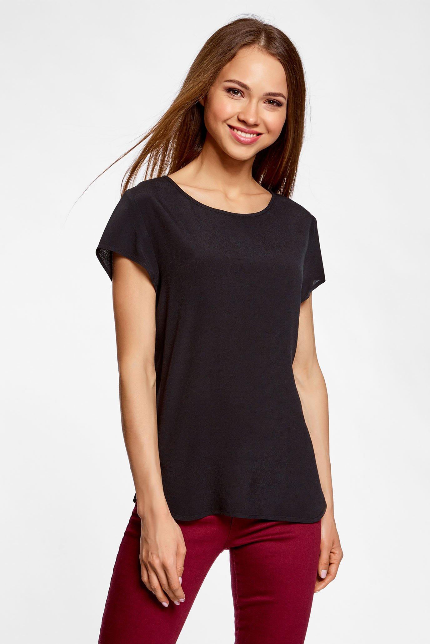 Купить Женская черная блуза Oodji Oodji 11411138B/46249/2900N – Киев, Украина. Цены в интернет магазине MD Fashion